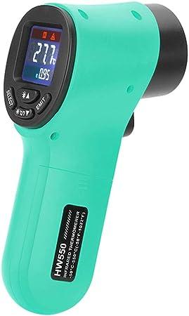 Kkmoon Digitales Infrarot Thermometer 50 550 C Berührungslos Temperaturmessgerät Pyrometer Aquarium Thermometer Mit Lcd Beleuchtung Grün Auto