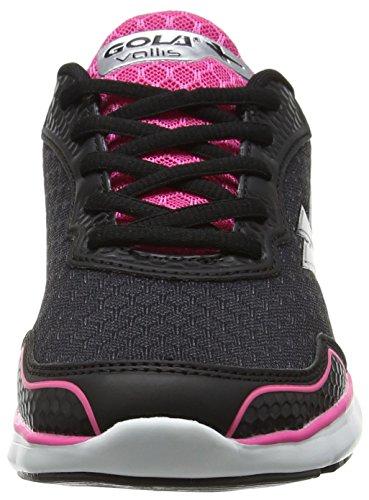 de Silver Pink Running Zapatillas Gola Black Vallis Mujer Negro para FSq7vExw