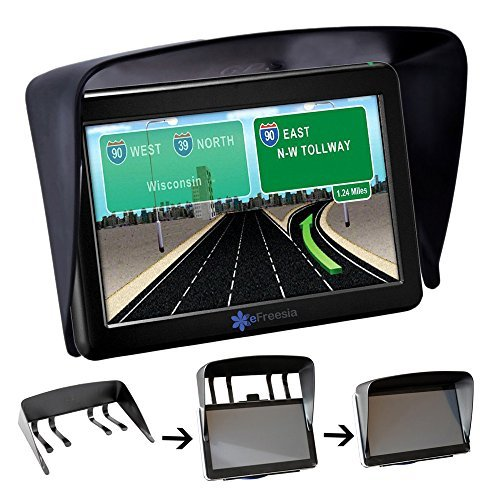 eFreesia® Shade Sun Glare Vision Shield for Universal 7 Inch GPS Nuvi 2797LMT & Rand McNally RVND 7720