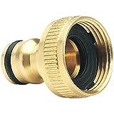 Draper Tools 3/4-Inch Expert Brass BSP Garden Hose Tap Connector