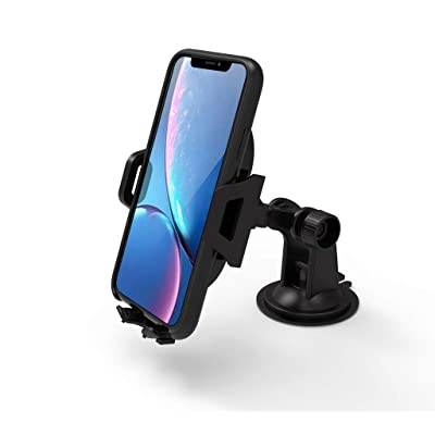 Car Mount, Arteck Universal Mobile Phone Car Mount Holder 360° Rotation for Auto Windshield and Dash, Universal for Cell Phones Apple iPhone Xs, Xr, Xs Max, 8 Plus, Android Smartphone, GPS and Others