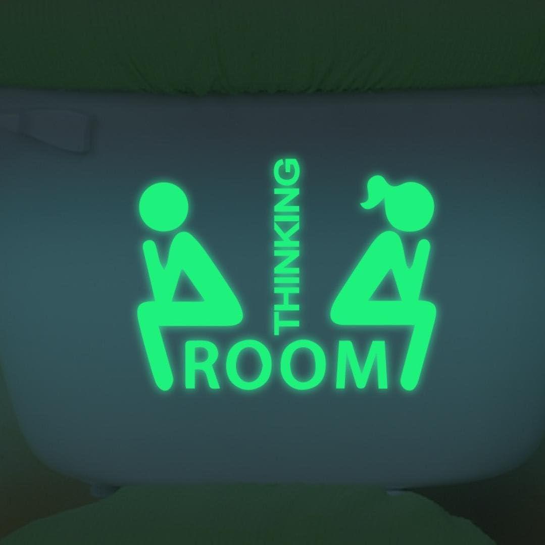 b Ouneed/® Lumineux Autocollante Toilette Decor Stiker Noctilucent