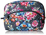 Vera Bradley Iconic Large Cosmetic, Signature Cotton, pretty Posies