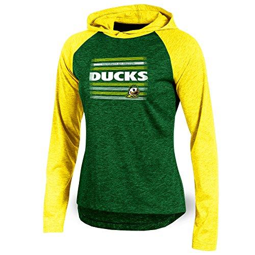 NCAA Oregon Ducks Adult Women Long sleeve Pullover Colo, Medium, Green Heather ()