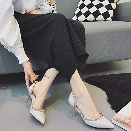 Heels Pointed Women'S Wild Women'S Stiletto Grey Shoes heels Dress Autumn Yukun Single Goddess High Shoes Small Princess Early Fresh High xFqWXB8