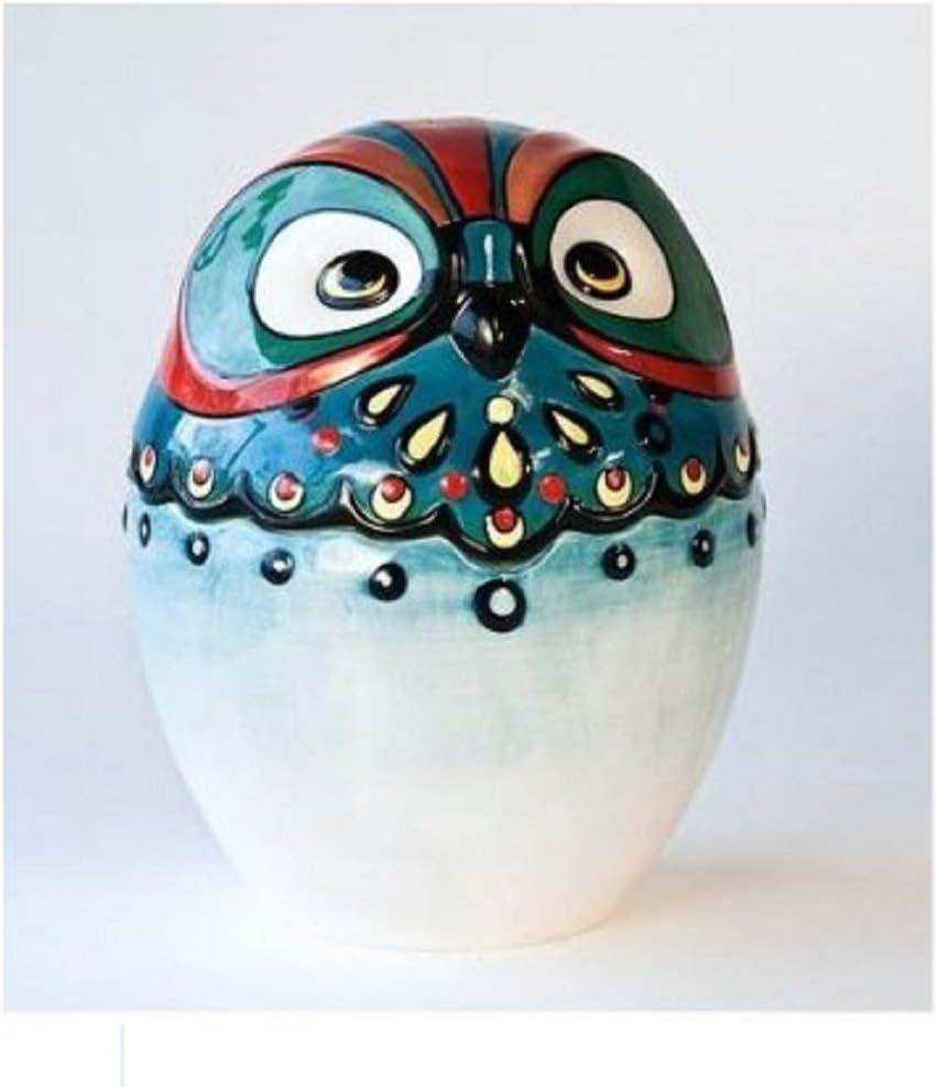 Owl Bird Design Ceramic Cookie Jar, 10.25 Inches