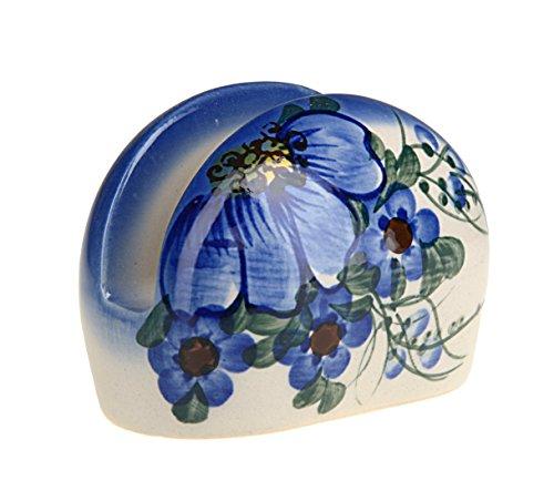 Classic Boleslawiec, Polish Pottery Hand Painted Ceramic Napkin, Serviette Holder, 508-A-064