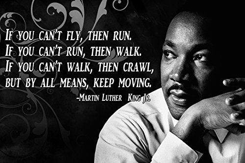 Dr Martin Luther King Jr Poster MLK Growth Mindset Teacher Decorations Educational Elementary High School Home Gym Workout Fitness P005