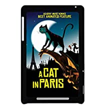 Print With A Cat In Paris For Google Nexus 7 Friendly Back Phone Case For Man Choose Design 1