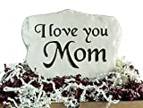 I Love You Mom – Engraved in a Heavy Little Rock For Sale