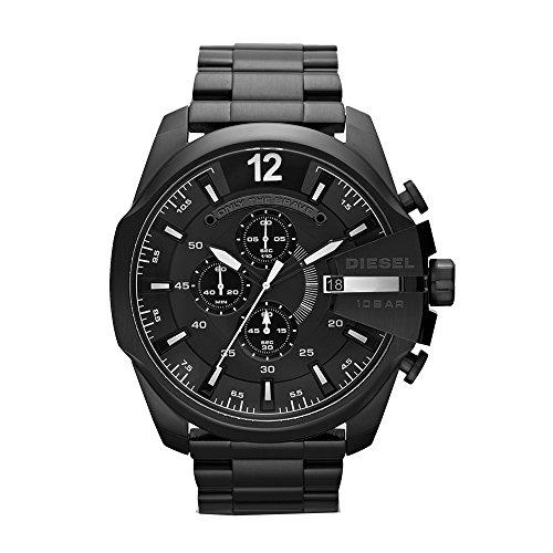 Diesel Men's DZ4283 Mega Chief Black Ip Watch