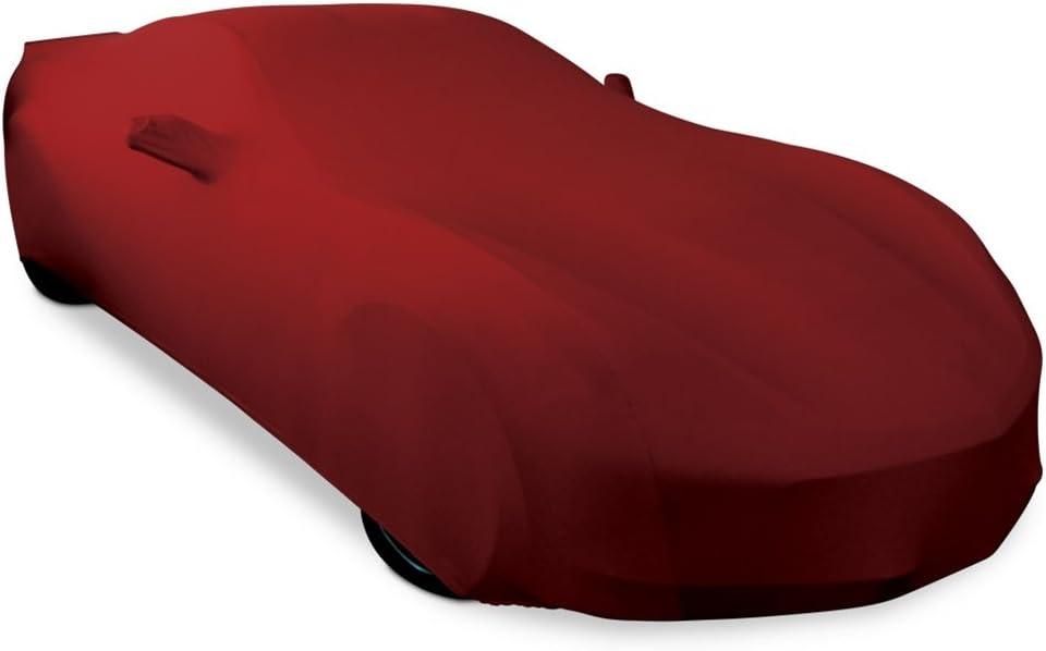 Dark Red 1997-2004 C5 Corvette Ultraguard Stretch Satin Indoor Car Cover