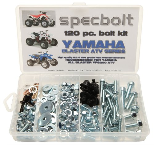 Specbolt Fasteners 120pc Yamaha Bolt Kit: Blaster YFS200 model series ATV for Maintenance & Restoration OEM Spec Fasteners ATV Quad YFS200