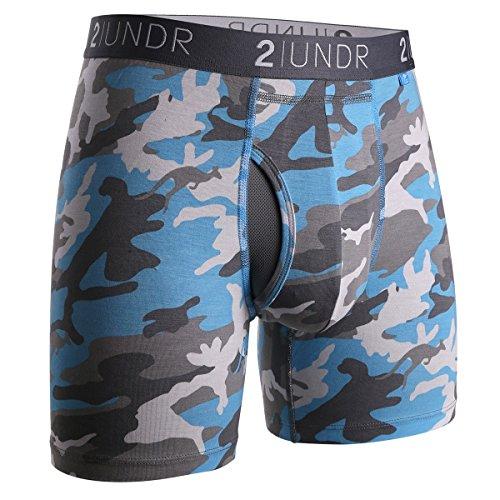 2UNDR Men's Swingshift Boxers, Ice Camo , ()