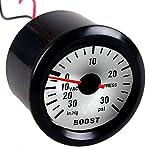 "Yosoo 2"" 52mm Black Car Universal Pointer PSI Turbo Boost Gauge Meter Dials LED, 0-30 PSI"