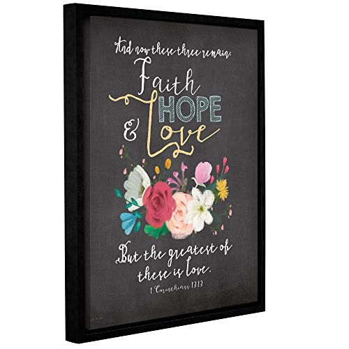 ArtWall Jo Mouton's Faith Hope & Love Gallery Wrapped Floater Framed Canvas, 36 x 48'' by Art Wall