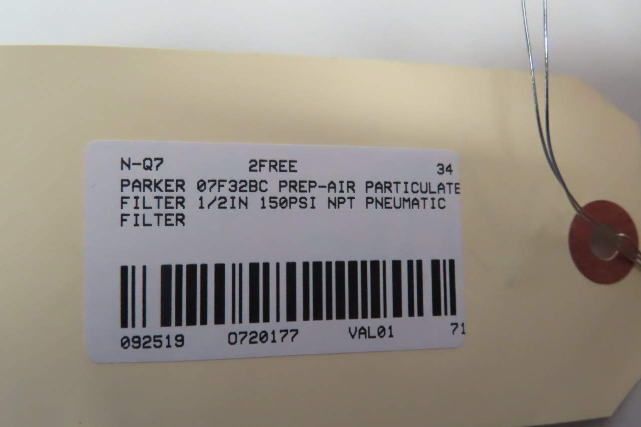 PARKER 07F32BC PARTICULATE Filter 1//2IN NPT 150PSI