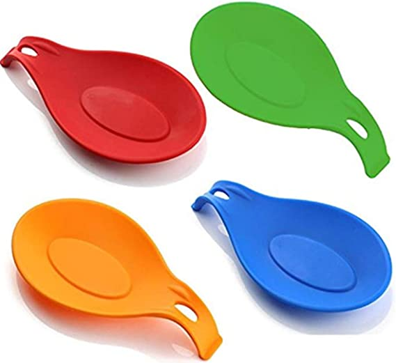 Colorful,Small Size Kitchen Silicone Spoon Rest M2Y5 Set of 4,