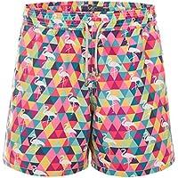 Shorts Flamingando Colorido