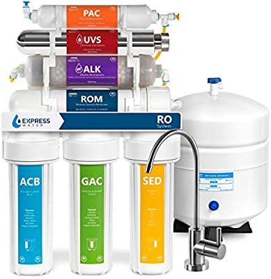 Express agua roalkuv10 m 11 fase UV ultravioleta + alcalinas + casa sistema de filtrado de agua potable de ósmosis inversa 100 GPD RO filtro de membrana – moderno ...