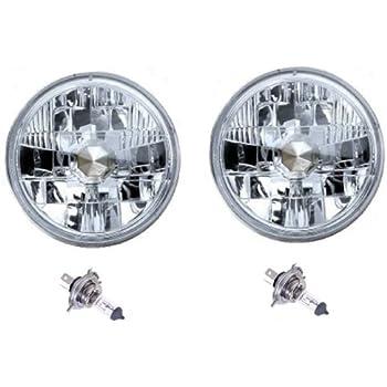 Amazon Com 7 Diamond Crystal Clear H4 Conversion Headlight Halogen