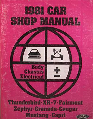 1981 Ford Car Shop Manual - Body/Chassis/Electrical (B)
