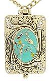 DaisyJewel Deluxe Birdsong Art Nouveau Vintage Locket Love Bird Necklace