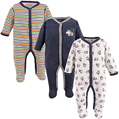 Luvable Friends 3 Pack Sleep and Play, Dog, 0-3 Months - Baby Boy Pajamas