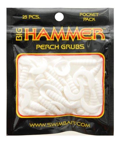 Big Hammer Perch Grub Bait, Whiter, 1-3/4-Inch