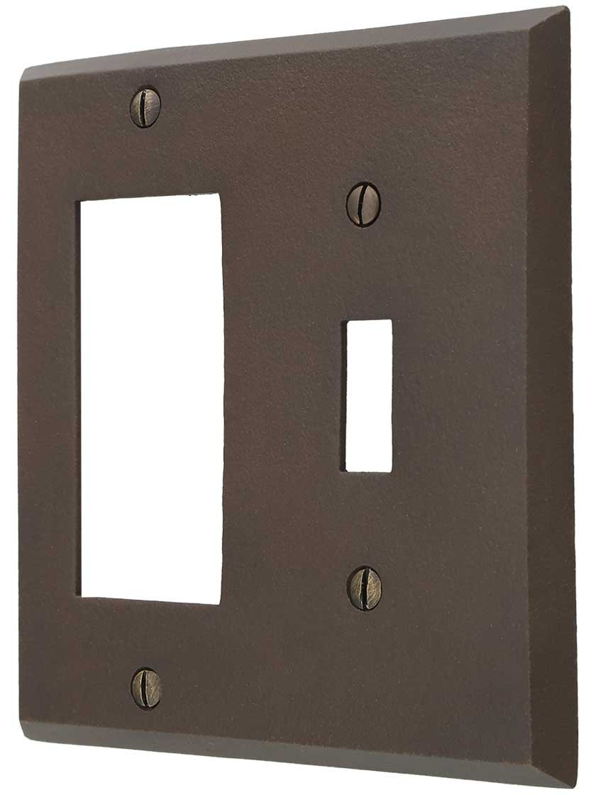 Distressed Bronze Toggle/GFI Combination Switch Plate