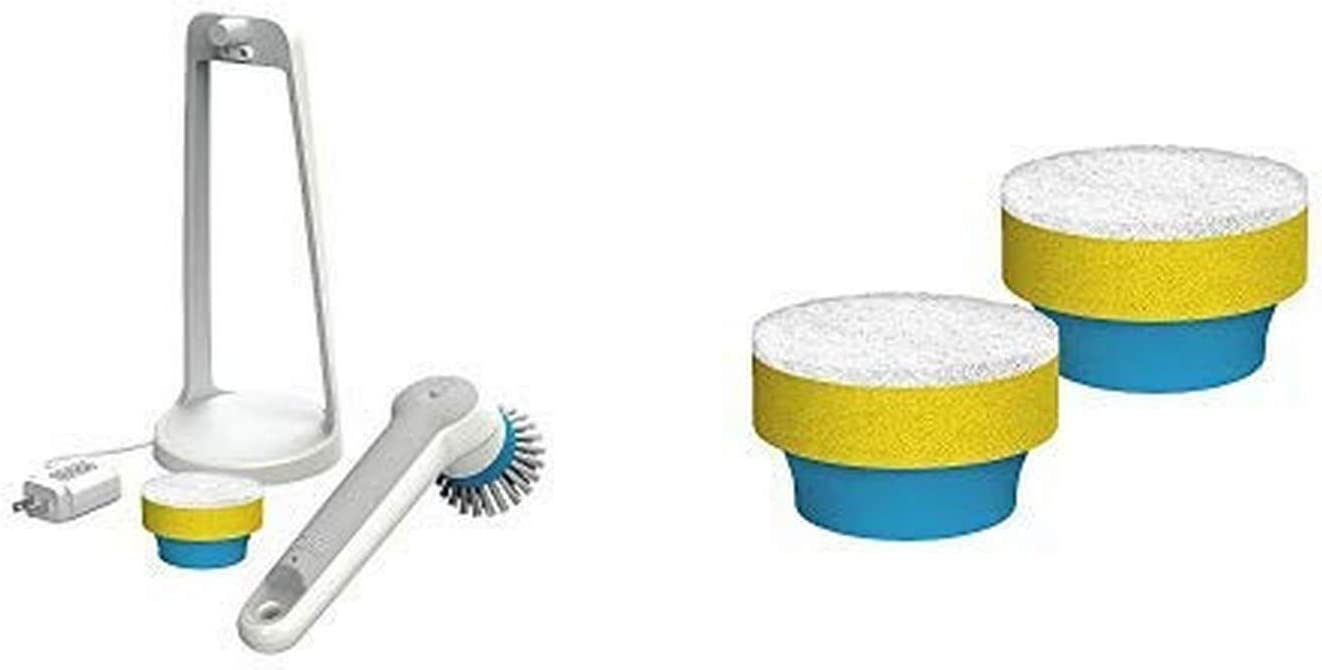 BLACK+DECKER Grimebuster Pro Power Scrubber Brush, Rechargeable with Replacement Pad/Sponge, Multi-Purpose (BHPC110 & BHPC101A)