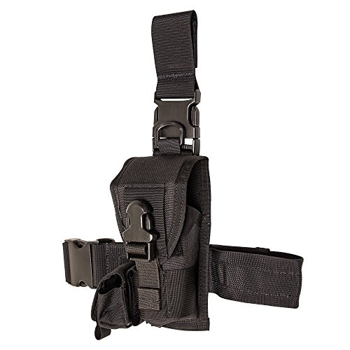 S.O. Tech TH-X26-TBVS-BLCK Ambidextrous LAPD Approved Speed Clip Taser Holster X26/26P with Thigh, Belt and Vest, Black