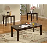 Brassex 4237-13 Daniel Coffee Table Set, 3 Piece