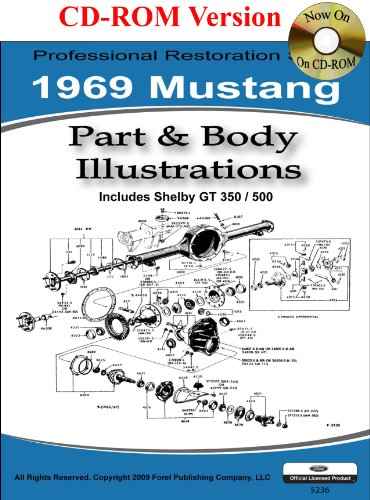 1969 Mustang Part and Body Illustrations