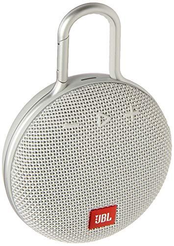 JBL Clip 3 Waterproof Portable Bluetooth Speaker – White