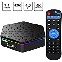 T95Z Plus Android 7.1 TV BOX KODI, 4K Android TV Streaming BOX 2G RAM 16G ROM, Media Player Smart TV Set Top Box with Amlogic S912 Octa Core Dual Band Wifi 2.4G/5G 3D TV Boxes with Remote