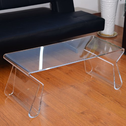 HomCom 38 in. Modern Acrylic Coffee Table - Buy Online in UAE.  Kitchen Products in the UAE