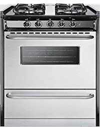 Summit TTM21027BRSW Kitchen Cooking Range, Stainless Steel