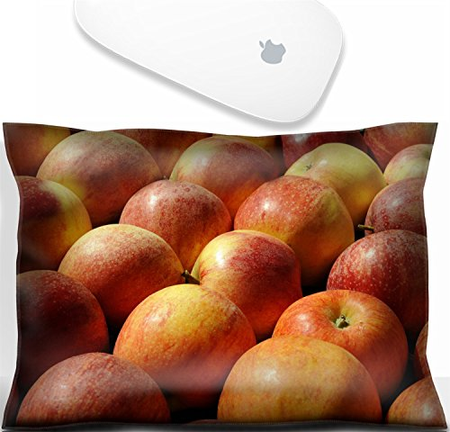 Luxlady Mouse Wrist Rest Office Decor Wrist Supporter Pillow red apples at a farmers market in France. IMAGE: 8265506