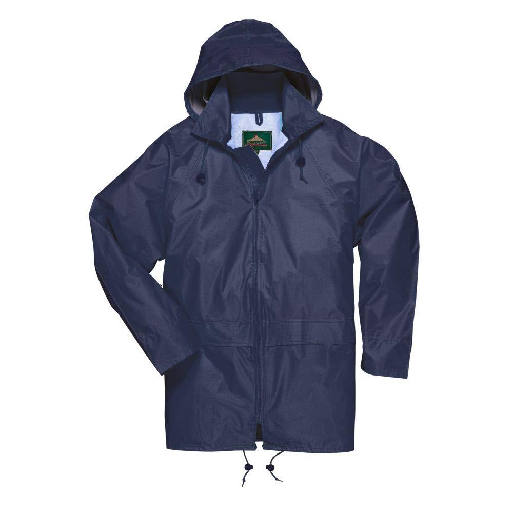- Regenmantel M, L, XL oder 2XL Portwest S440 klassische Iona Regenjacke Marine XL