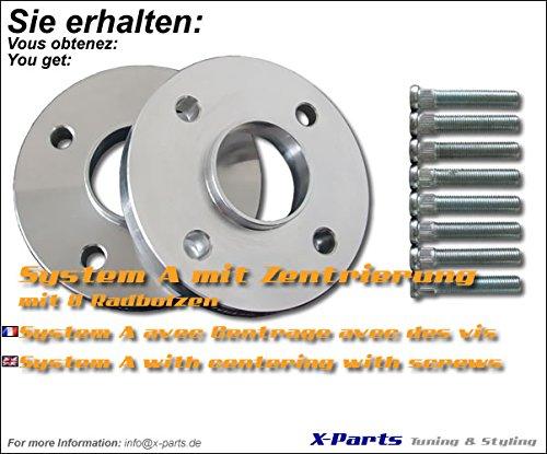 40 mm é largisseur de voie 4 x 108 NLB 63, 4 mm 20 mm par page avec goujons 4mm 20mm par page avec goujons X-Parts