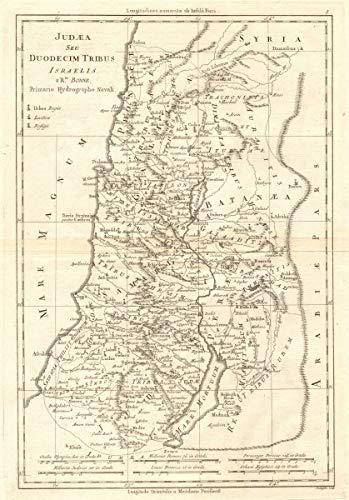 Amazon.com: Judaea Seu Duodecim Tribus Israelis. Judea. 12 Tribes of on