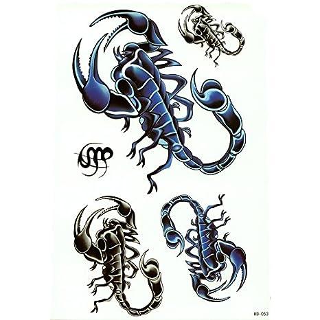 Tempytatts Hawaii Island Harajuku Azul escorpión Zodiacal Escorpio ...