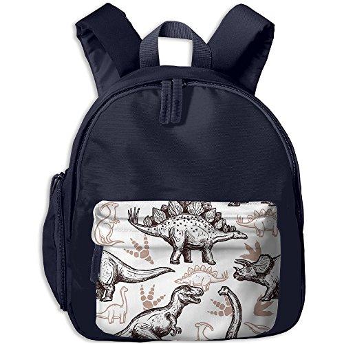 Gibberkids Toddler Kids Dinosaur Clip Art School Bag Bookbag For Boys Girls 1-7 Years (1 Clipart)
