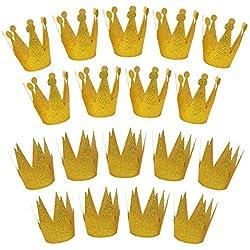 JUSLIN USA 11 Juslin 18PCS Gold Birthday Party Crown Laurel Hats