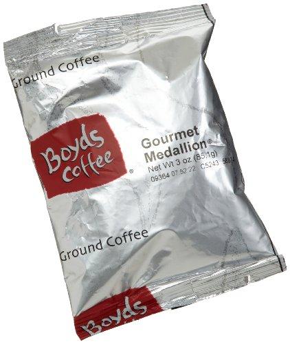 Boyds Coffee Gourmet Medallion, Ground Medium Roast Coffee, 3-Ounce Portion Packs (Pack of 40)
