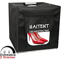 Haitent Professional 242424 Dimmable LED Photo Lighting Studio Shooting Tent Box Kit with Dimmer and 4 Color Backdrops