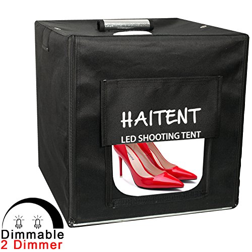 Haitent Professional 24''24''24'' Dimmable LED Photo Lighting Studio Shooting Tent Box Kit with Dimmer and 4 Color Backdrops by Haitent