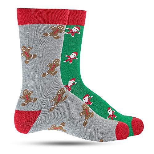 Christmas Dress Socks For Men Crazy Socks For Men's: Mens Funny, Cool, Funky, Gingerbread Santa