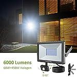 60W Security Lights Outdoor Motion Sensor, Novostella 6000LM(450W Equivalent) LED PIR Floodlights, IP66 Waterproof LED…